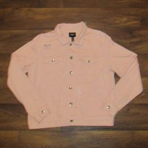 FOREVER 21 JEAN JACKET PINK SIZE LARGE NWT